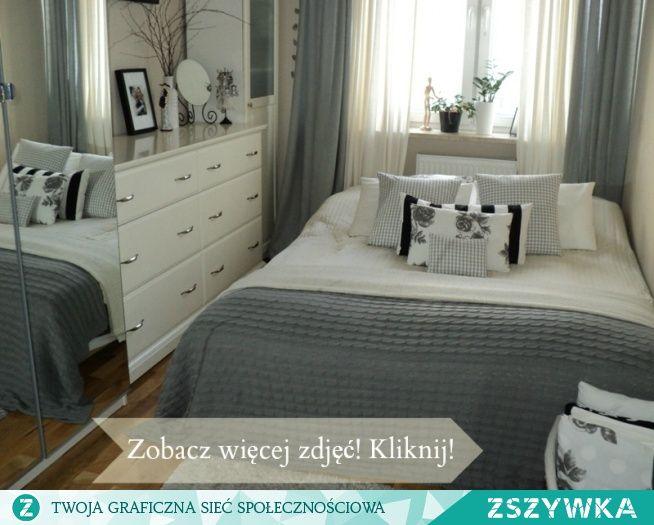 Mała sypialnia w bloku ;-))) na Wnętrza | Small guest ...