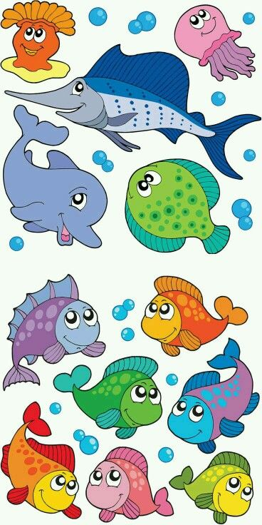 Pin By Hieronimus Jonathan On Varios Animales Cartoon Fish Clip Art Cartoon Animals
