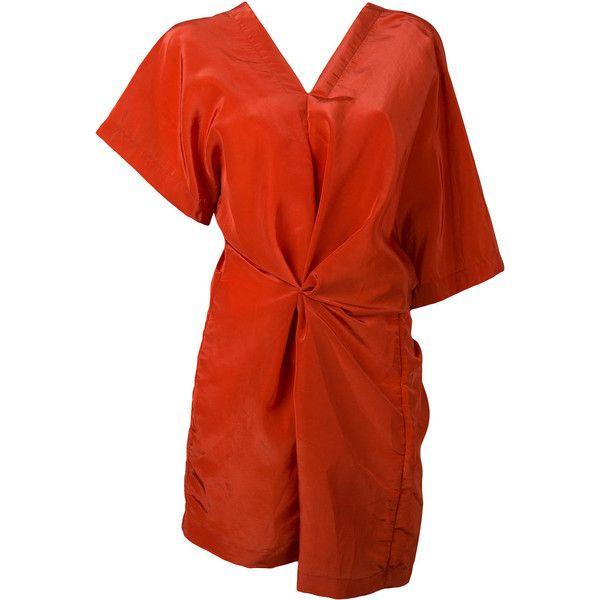 Jil Sander Red V-Neck Tunic For Women On Sale