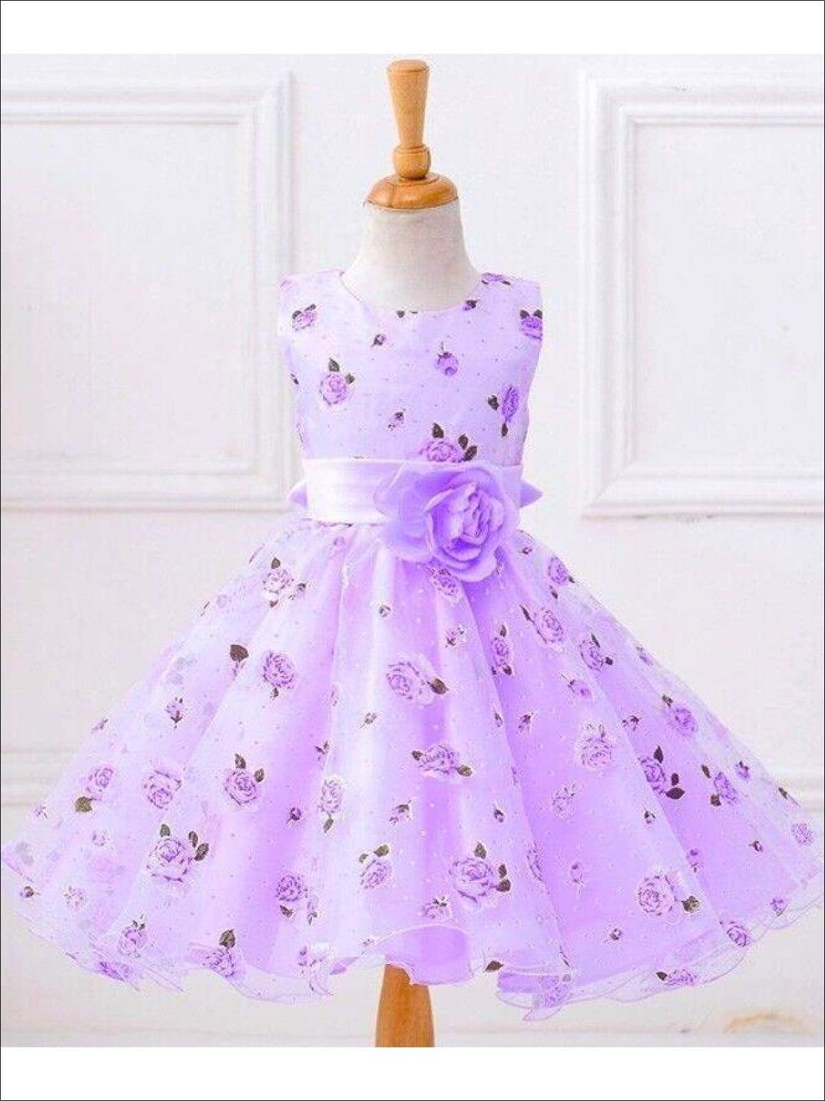 NEW Lilac Lace Tulle Dress w// Fishing Line Flower Girl Birthday Easter #015