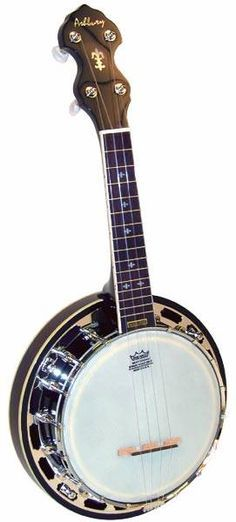 Banjolele. Love to have a banjolele. They really have that characteristic banjo sound... with the ease of uke playing. Great idea.
