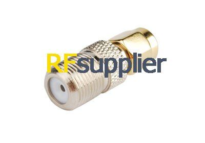 5PCS RF SMA-F Adapter SMA Plug to F Jack Straight
