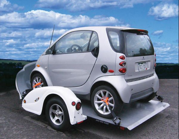 Smart Car Fiat Mini Cooper And All Small Trailers