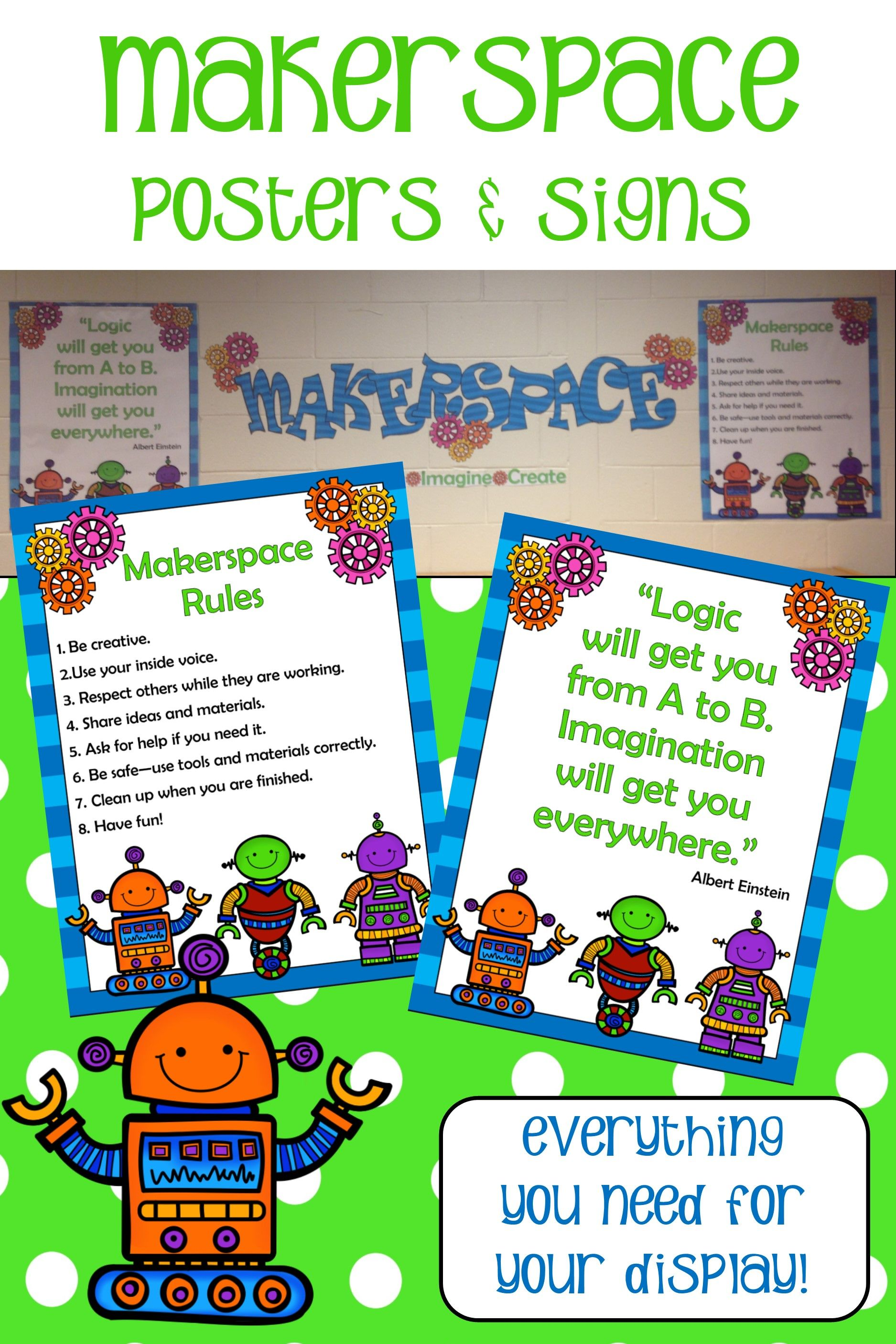 Makerspace Posters And Signs Makerspace Posters Makerspace Makerspace Middle School