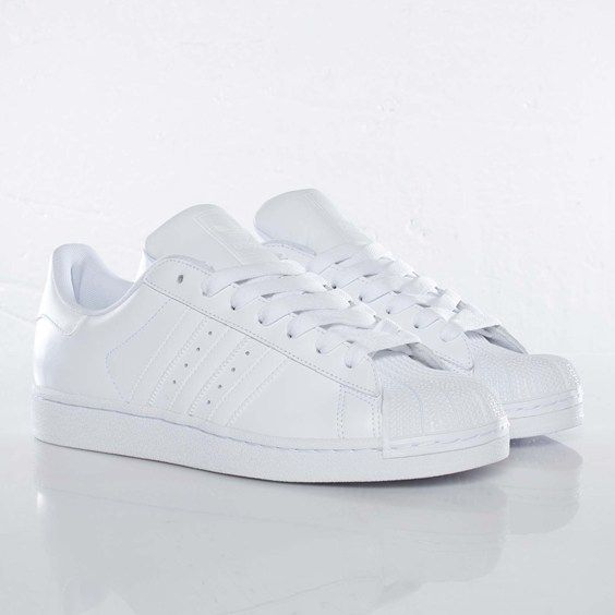 Adidas Superstar White Black Foundation Kids Trainers Offspring