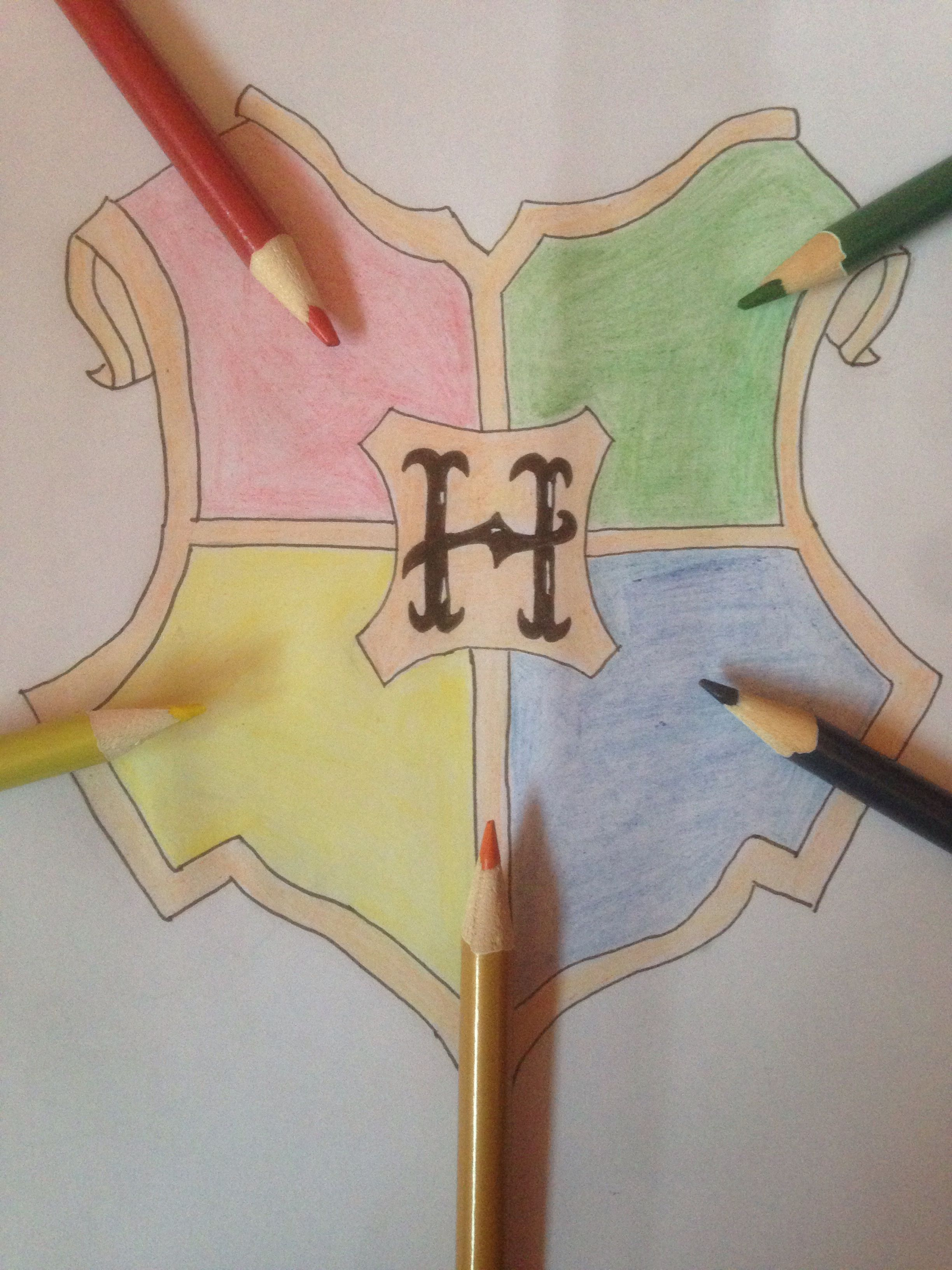how to draw the harry potter logo easy