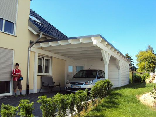 Flachdach Carport Mit Gerateraum In 2020 Carport Flachdach Und Carport Mit Gerateraum