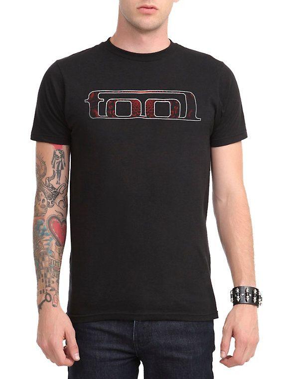 Tool Red Fill Logo T-Shirt, BLACK