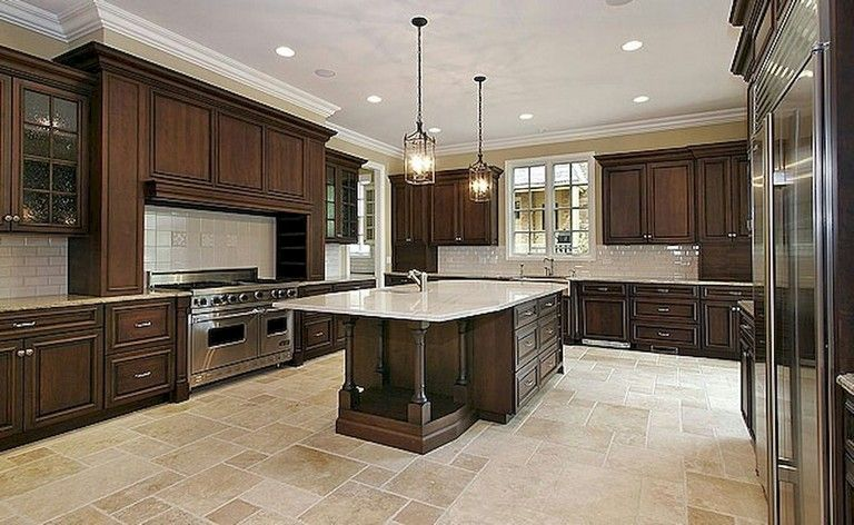 92 Amazing Kitchen Backsplash Dark Cabinets Flooring Options Modern Floor Tile