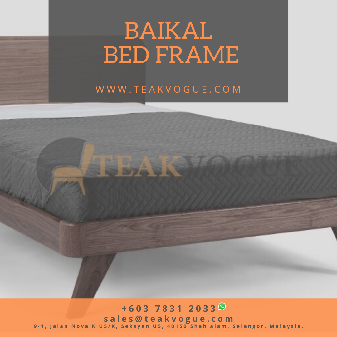 Baikal King Size Bed Teak Wood bed frames Malaysia in