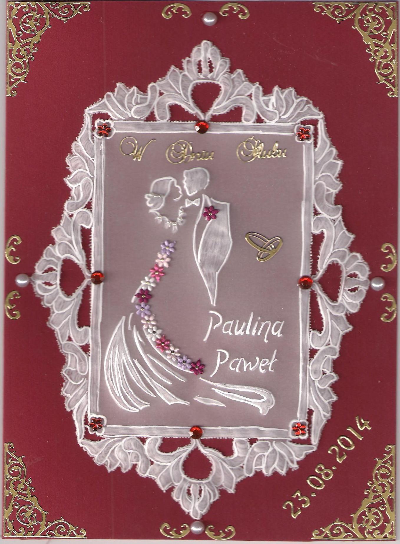 W Dniu Slubu Parchment Pinterest Liebe Und Karten