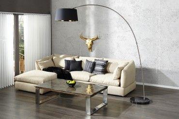 Bogenlampe Mit Dimmer ~ Design stehleuchte forma schwarz gold bogenlampe decor