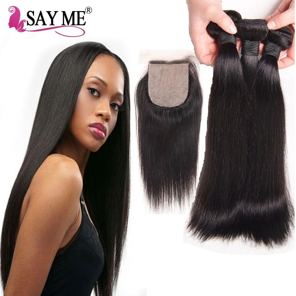 8a Grade Brazilian Straight Virgin Hair 3 Bundles With Silk Base