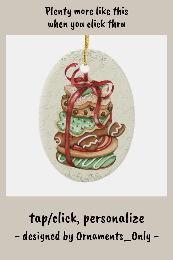 Christmas Cookies - SRF Ceramic Ornament - tap/click to personalize and buy #CeramicOrnament #ornament #cookies #cookie #swap #christmas