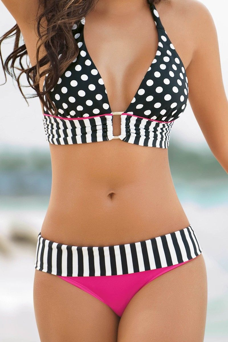 Damen Übergröße Printed Bikini Set Push Up Badeanzug Bademode Padded Beachwear
