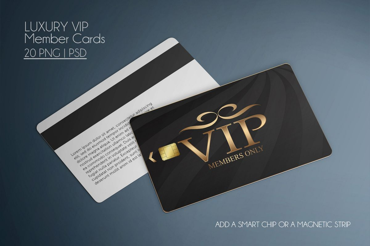 20 Luxury Vip Member Cards 258606 Elements Design Bundles Member Card Vip Card Cards