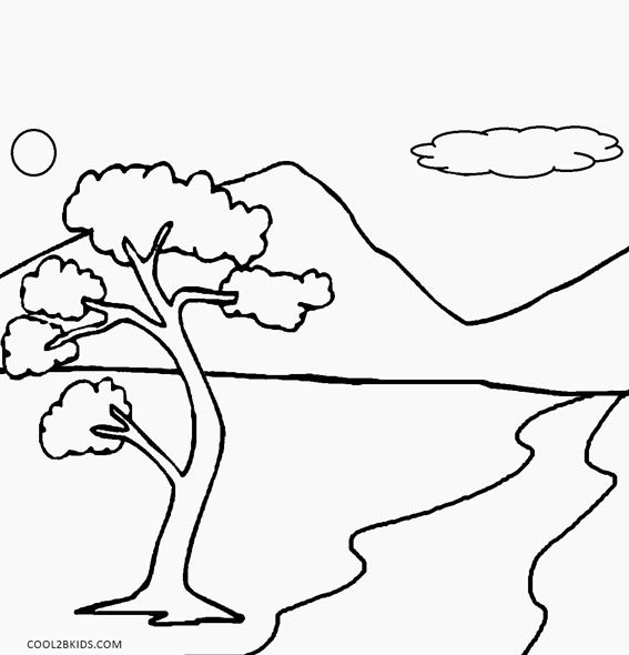 Printable Nature Coloring Pages For Kids Cool2bkids Nature Drawing For Kids Simple Nature Drawing Coloring Pages For Kids