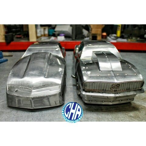 New vs old camaros drag cars metalart cold hard art for Metalart polen