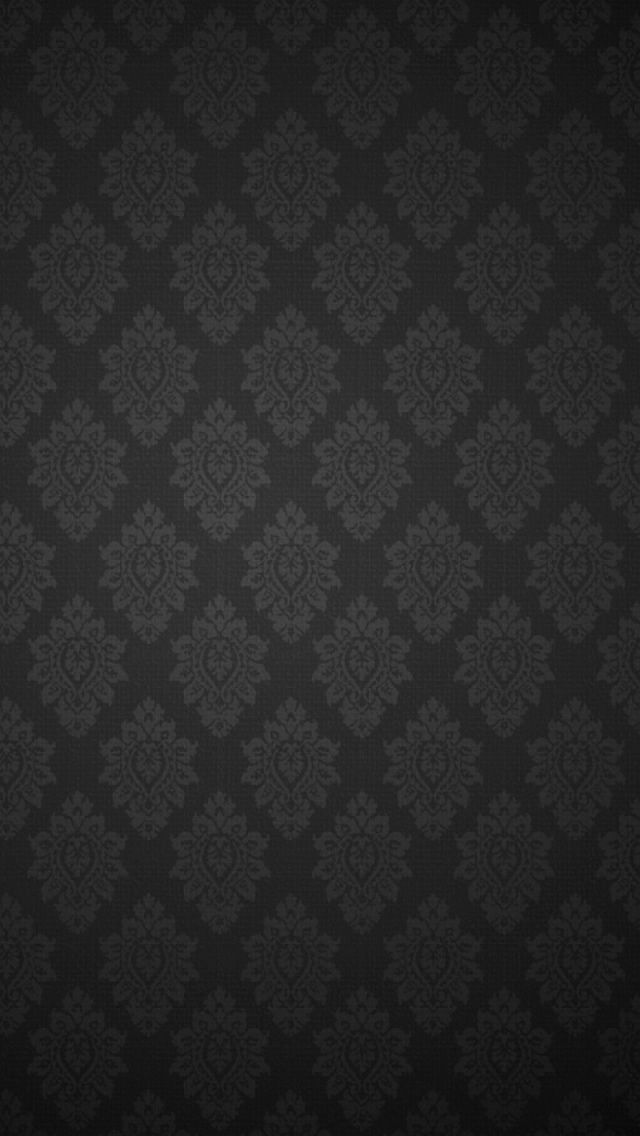 Black Baroque Pattern IPhone 5 Wallpaper