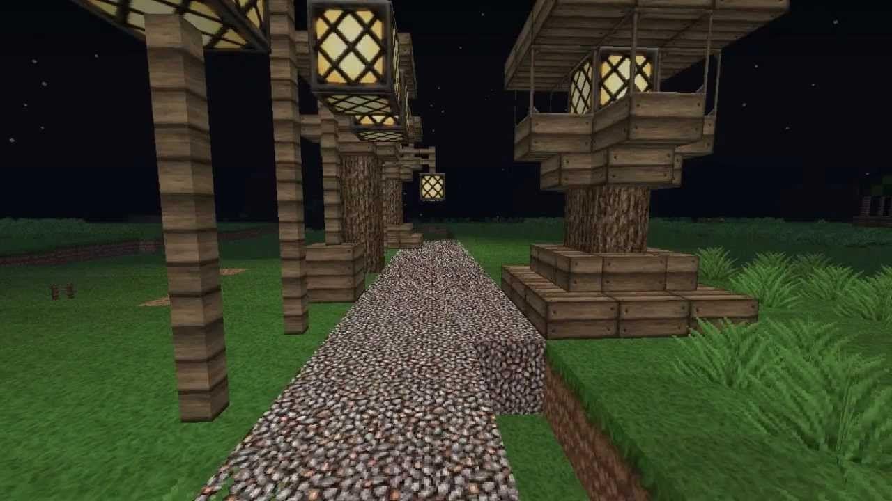 minecraft medieval street lamps tutorial - Lampadaire Minecraft