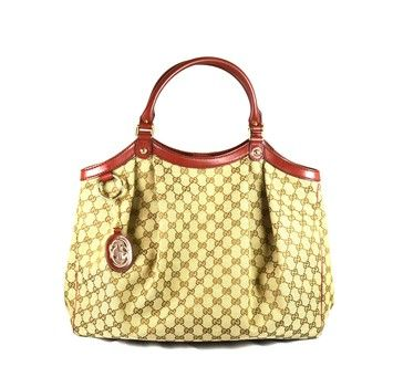 49177dd431b Gucci Sukey 211943 Khaki   Red Tote Bag. Get one of the hottest styles of  the season! The Gucci Sukey 211943 Khaki   Red Tote Bag is a top 10 member  ...