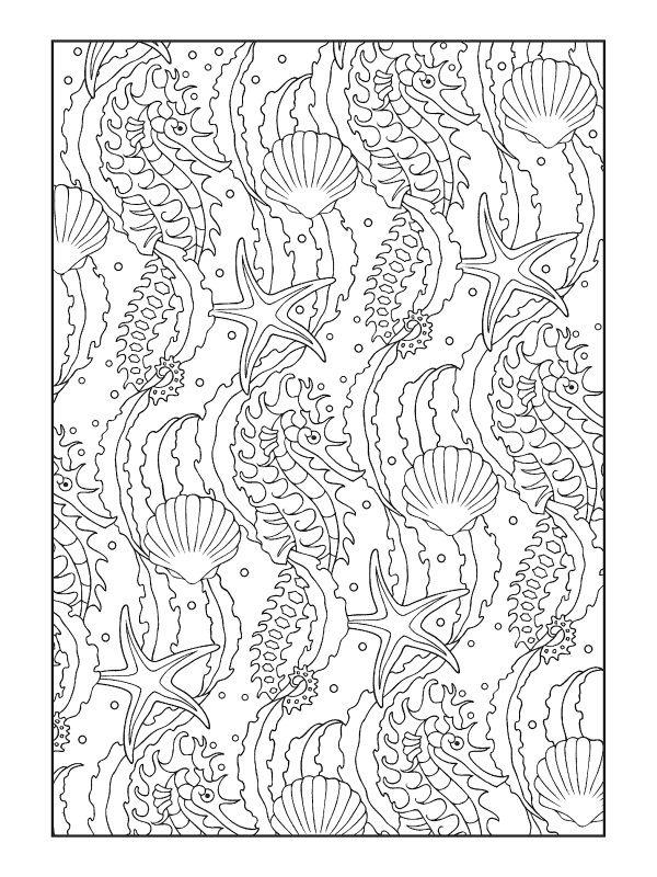 Art Nouveau Nautical Pattern Designs Coloring Books Coloring Books Animal Coloring Pages