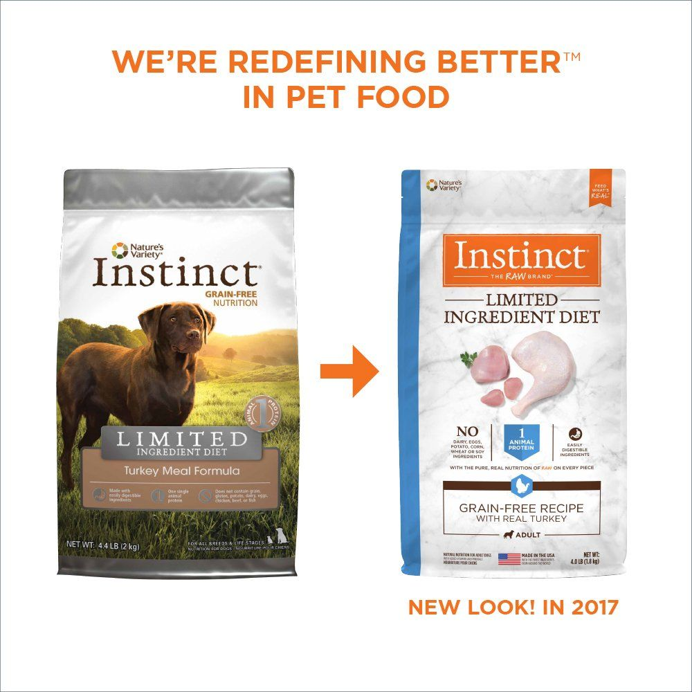 Instinct Limited Ingredient Diet Grain Free Turkey Meal Formula Natural Dry Dog Food By Natures Variety 4 4 Lb Bag Dog Food Recipes Dry Dog Food Free Food