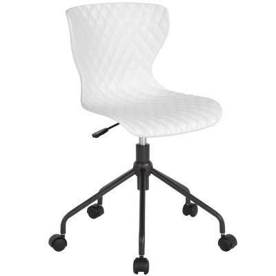 Carnegy Avenue White Plastic Office Desk Chair White Office Furniture Furniture Chair