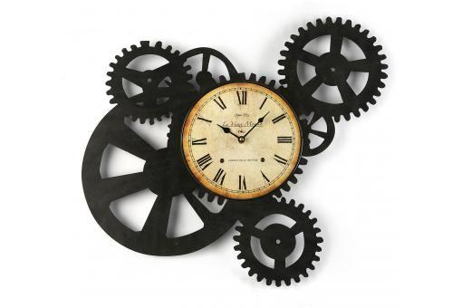 Horloge Murale Engrenage 51 X 54 Cm Horloge Design Pas Cher Horloge Murale Horloge Parement Mural