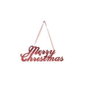 """Merry Christmas"" Script Glitter Sign - 12""