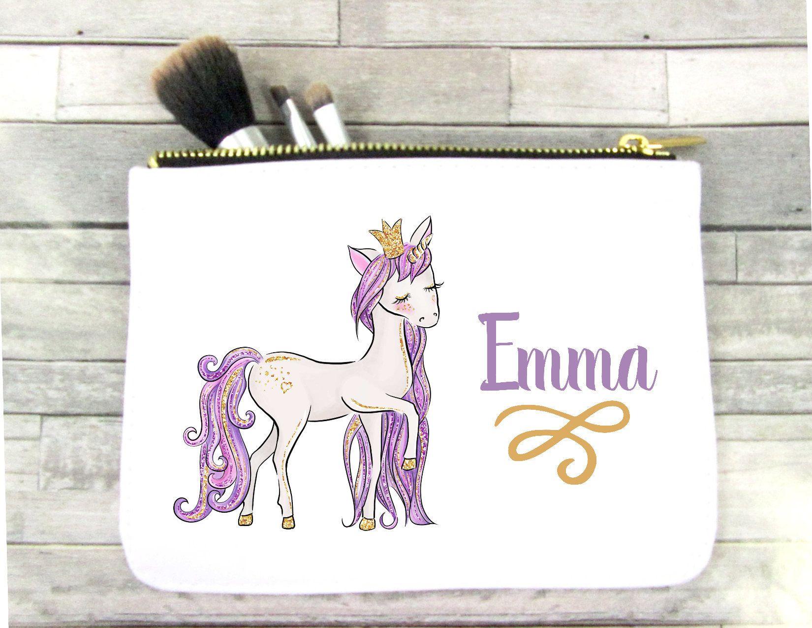 Unicorn Makeup Bag Unicorn Cosmetic Bag Unicorn Bag