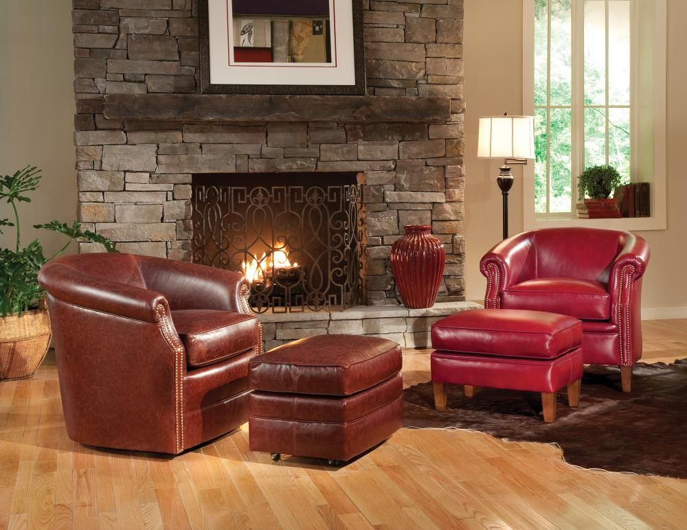 Vander Berg Furniture Flooring Cozy Up To Your Fire In A Comfortable Leather Chair Vanderbe Build Your Own Sofa Comfortable Leather Chairs Wooden Sofa Set