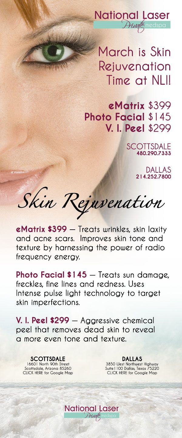 Don T Miss Out On The March Spa Specials Spa Specials Skin Rejuvenation National Laser Institute
