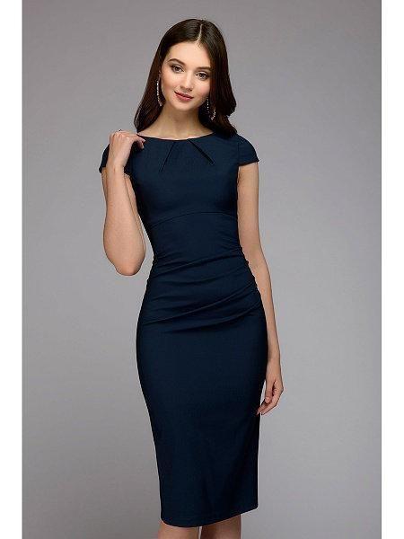 ce979ece76 Summer 2018 Dress Women Solid Slim dress Short Sleeve Office ...