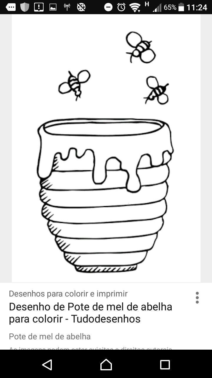 Ideia Por Ester Albuquerque Em Rede Kids Pote De Mel Desenho Potes