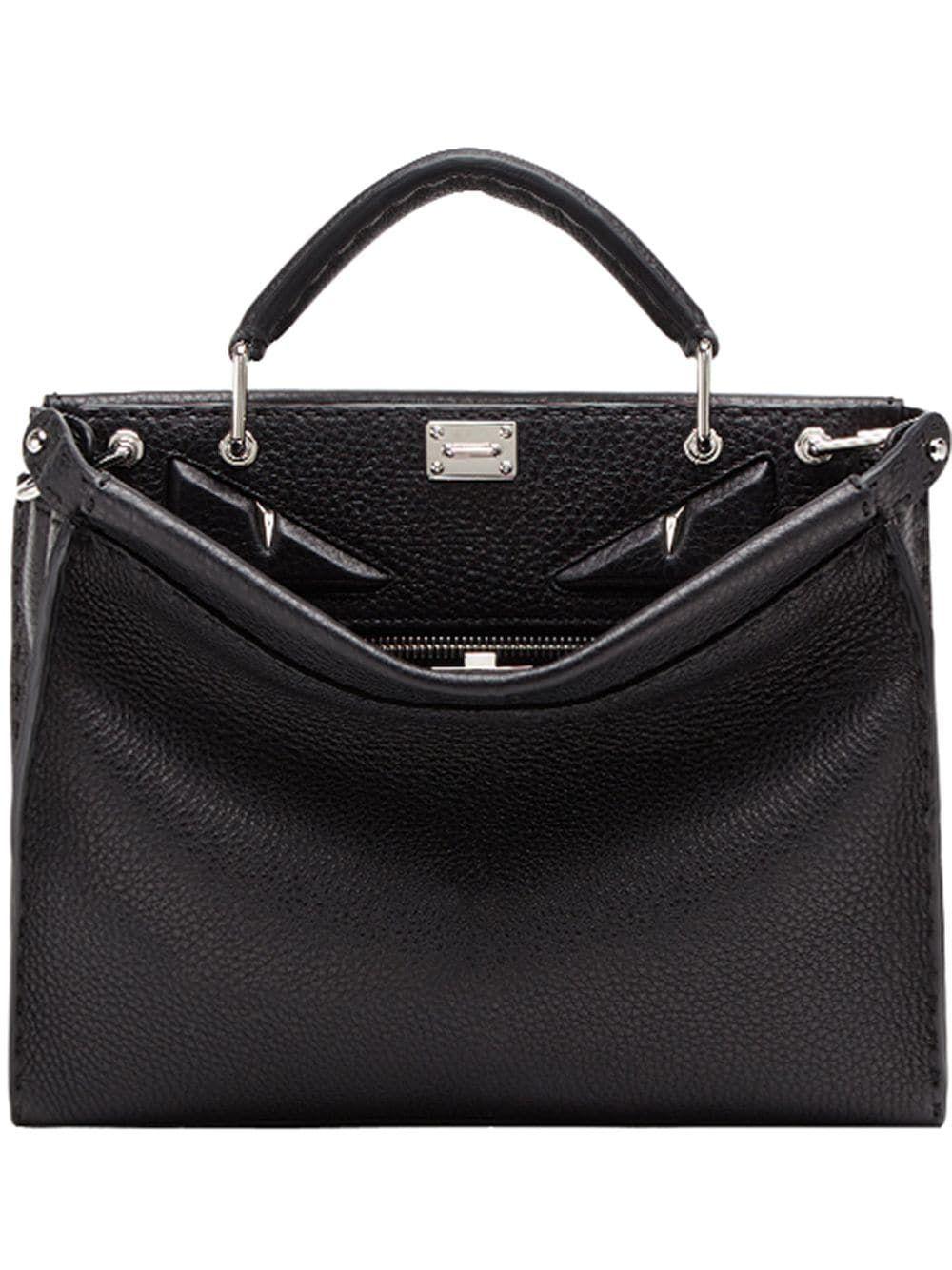 389333a5194f FENDI FENDI MINI PEEKABOO FIT BAG - BLACK.  fendi  bags  shoulder bags   hand bags  leather  keychain  accessories