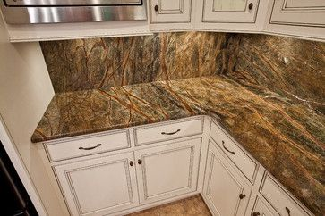 Rainforest Green Granite Kitchen Traditional Kitchen Green Granite Kitchen Granite Kitchen Green Granite