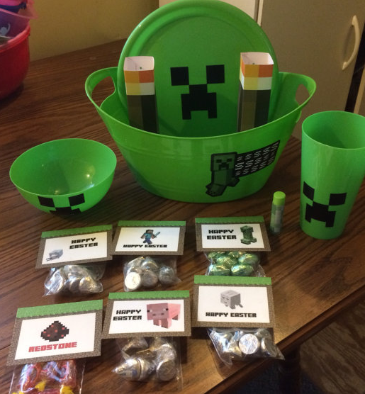 Gifts for kids easy easter basket ideas minecraft large easter gifts for kids easy easter basket ideas minecraft large easter baket by friendly frogs negle Images