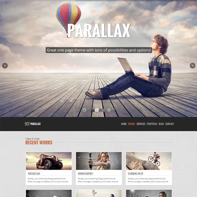 907 – Responsive One Page WordPress Theme