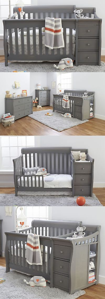 best into convertible sorelle changer cribs l bed crib convert cherry with how in princeton toddler to