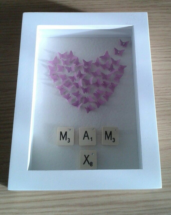 Mothers day butterfly frame idea. | My crafty projects | Pinterest ...