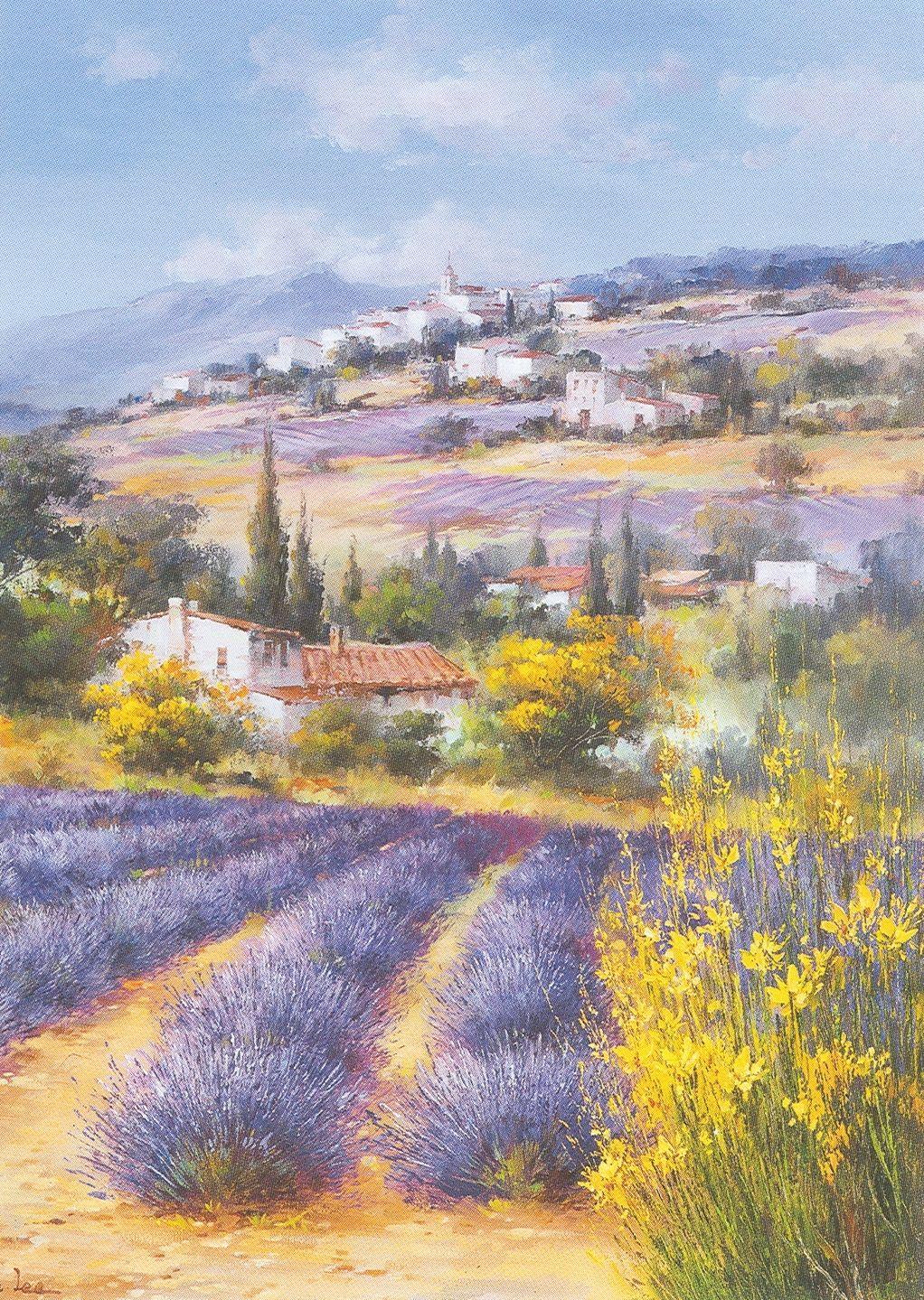 tableaux des paysages de provence occident lavendar. Black Bedroom Furniture Sets. Home Design Ideas
