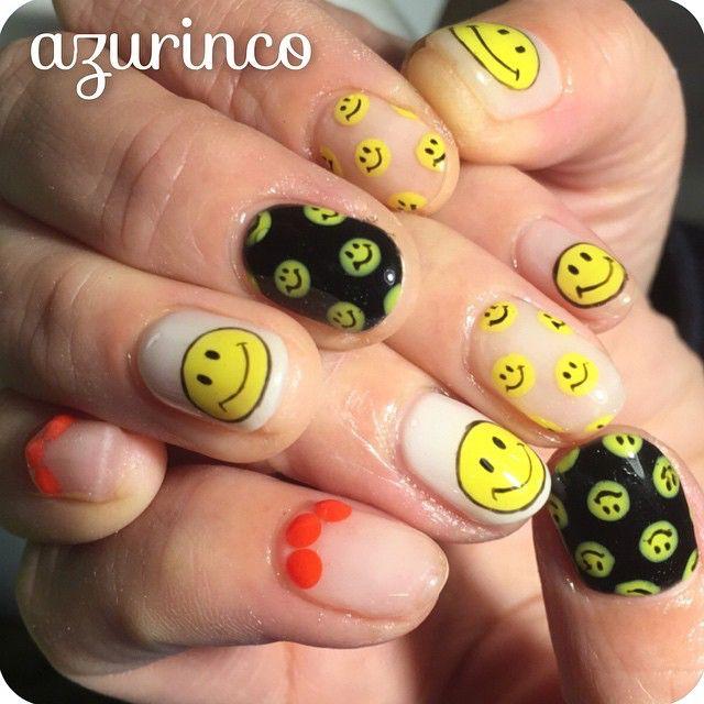 アサイさんちょっと前にnew nail〜〜♪ #すんませんすんませーん  #nail #nails #nailz #nailart #nailswag #naildesing #nailstagram #gelnail #gelnails #handpaint #ネイル #ネイルアート #ネイルデザイン #ジェルネイル #ショートネイル #手描き#azurinco #ありがとー