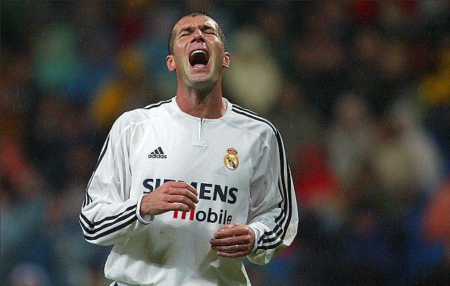 Zidane has reminded fans that he experienced his own low moments at Real Madrid