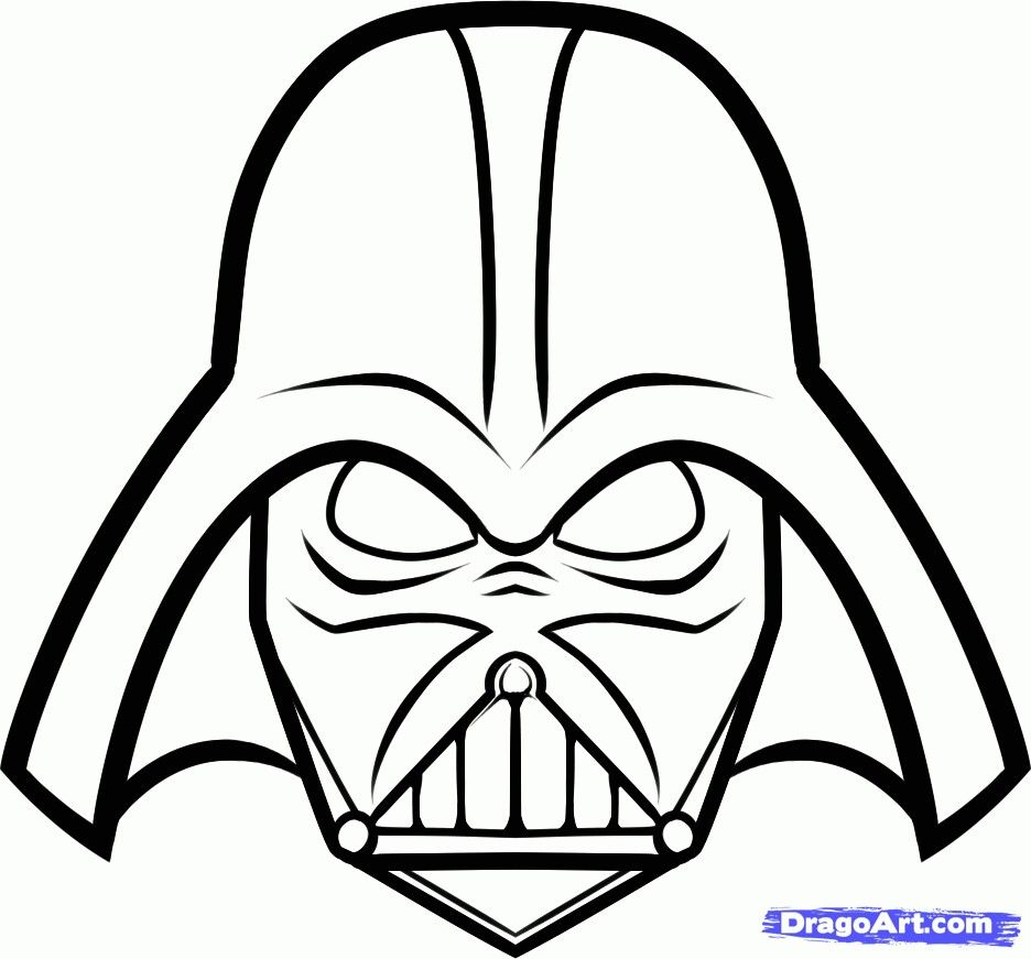 How To Draw Darth Vader Easy By Dawn Dessins Star Wars Dark
