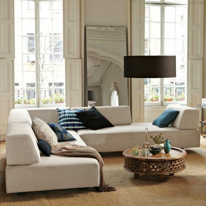 kleines wohnzimmer einrichten retro hängeleuchte kronleuchter, Wohnideen design