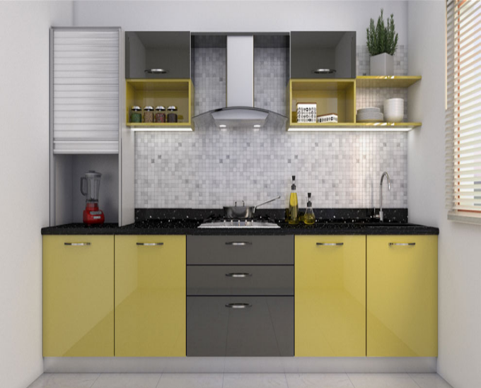 Do You Have A Small Kitchen Space Straight Modular Kitchens Are Just The Perfect Kitchen Design Small Space Kitchen Cupboard Designs Kitchen Furniture Design