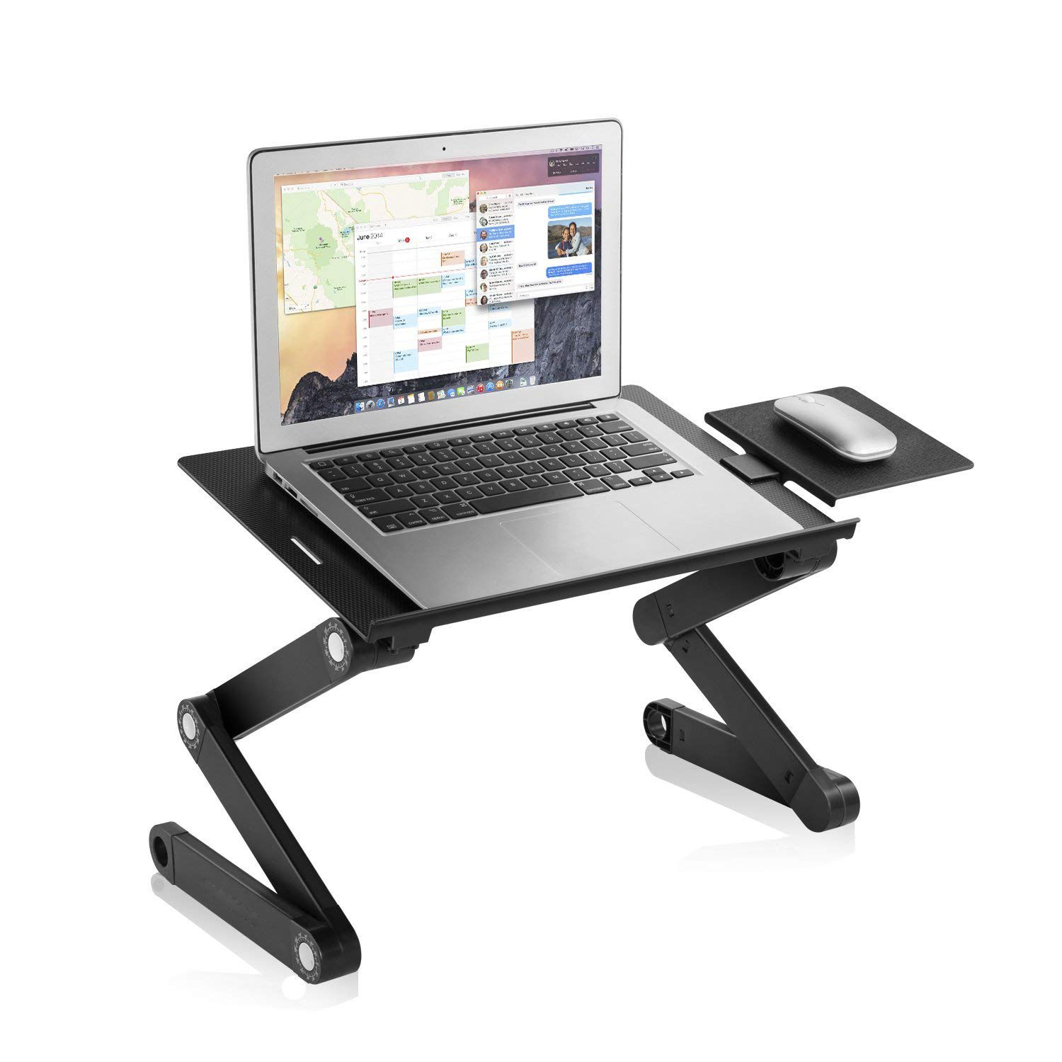 Laptop Table Stand Adjustable Riser Notebooks Cozy Desk With Ergonomic Mouse Pad And Fans Lightweight Ultrabook Laptop Table Laptop Stand Bed Bed Tray Table