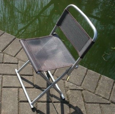 New Outdoor Camping Fishing Ultra-light Aluminum frame Seat folding Stool chair