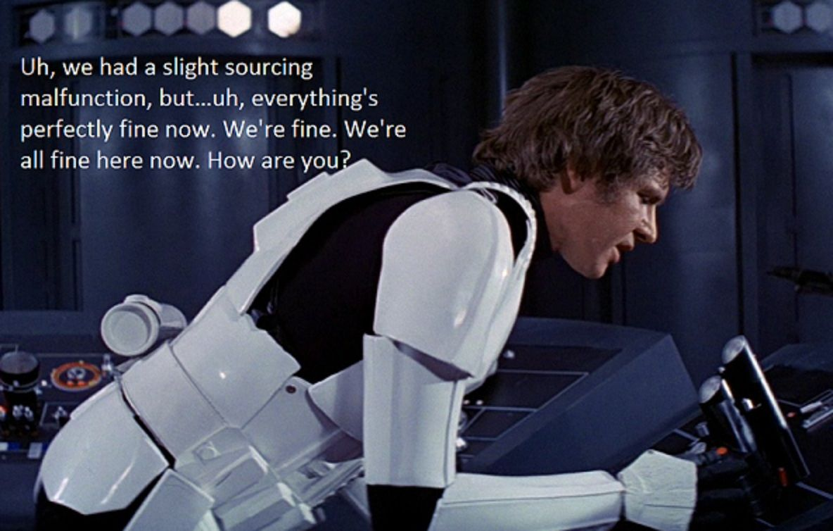 What I Send To My It Person After I Found Out That The Issue Was Really My Fault Star Wars Geek Star Wars Star Wars Fans